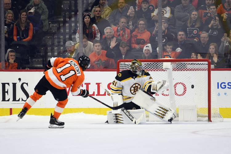 Athol Daily News - Marchand overskates puck in shootout, Bruins fall to  Flyers
